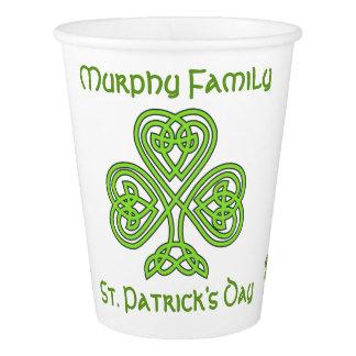 Vaso De Papel El día de St Patrick personalizado