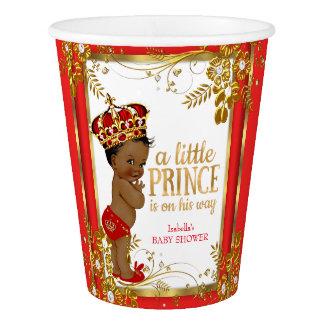 Vaso De Papel Étnico blanco del oro rojo del príncipe fiesta de