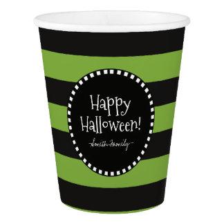 Vaso De Papel ¡Feliz Halloween! Las rayas caprichosas de la
