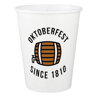 Vaso De Papel Festival de Oktoberfest Beerfest desde 1910
