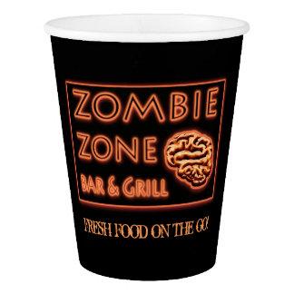 Vaso De Papel Fiesta divertido de Halloween de la zona del zombi