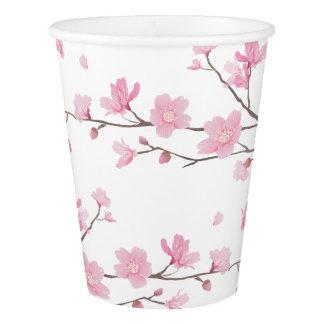 Vaso De Papel Flor de cerezo - fondo transparente