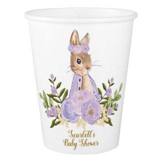 Vaso De Papel Flores de la púrpura de la taza de papel del