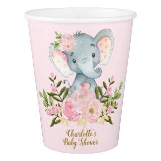 Vaso De Papel Flores del rosa de la taza de papel de la fiesta