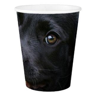 Vaso De Papel Foto negra linda del mascota del perrito del perro