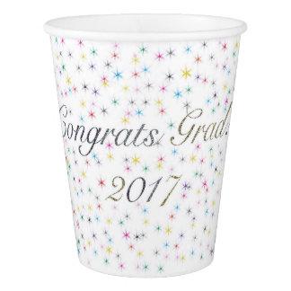Vaso De Papel ¡Graduado de Congrats! 2017 tazas de papel