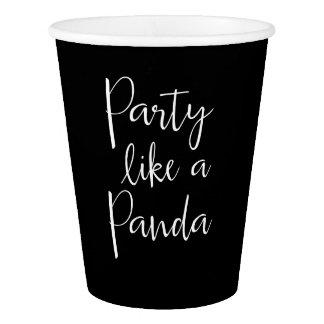 Vaso De Papel La panda tiene gusto de las tazas de papel de una