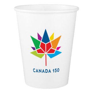 Vaso De Papel Logotipo del funcionario de Canadá 150 -