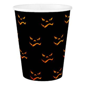 Vaso De Papel Modelo de la mueca de Halloween Jack O'Lantern