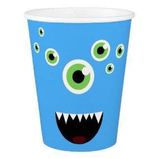 Vaso De Papel Monstruo azul lindo loco divertido único