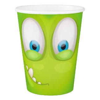 Vaso De Papel Muglee verdoso - taza grande del ojo