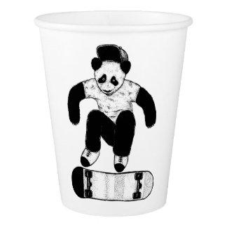 Vaso De Papel Panda que anda en monopatín