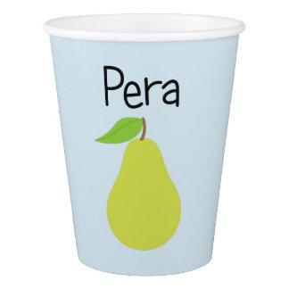 Vaso De Papel Pera (pera)