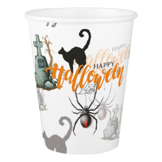 Vaso De Papel Sepulcro de la araña de Halloween