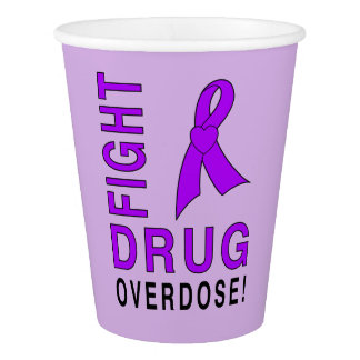 Vaso De Papel Sobredosis de droga de la lucha