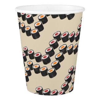 Vaso De Papel Sushi colorido Chevron
