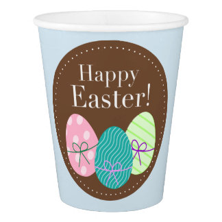 Vaso De Papel Taza de papel con los huevos de Pascua
