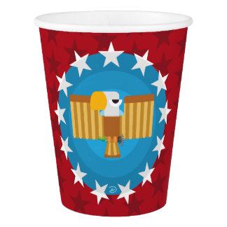 Vaso De Papel Taza de papel de Eagle de la libertad (rojo) -