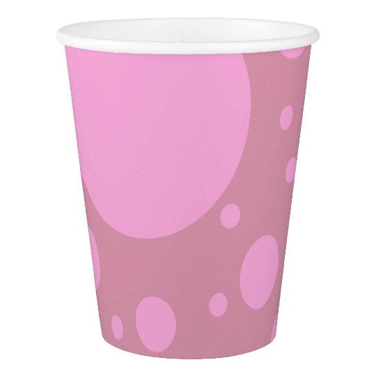 Vaso De Papel Taza de papel de encargo de los puntos rosados,