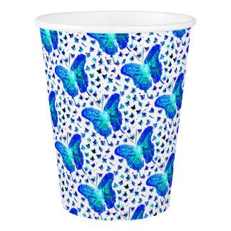 Vaso De Papel Taza de papel de la mariposa pintada a mano