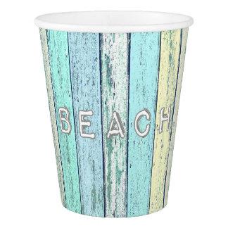 Vaso De Papel Taza de papel de la playa