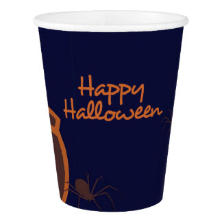 Vaso De Papel Taza de papel de las arañas del feliz Halloween
