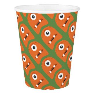 Vaso De Papel Taza de papel de los monstruos anaranjados lindos