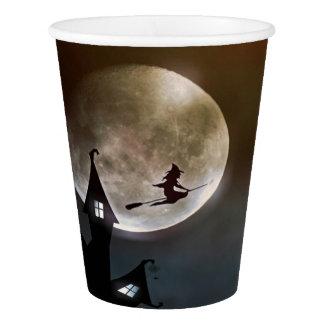 Vaso De Papel Taza de papel del feliz Halloween de la bruja del