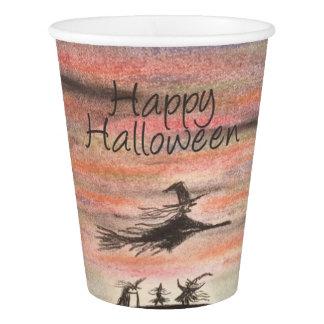 Vaso De Papel Taza de papel del feliz Halloween del bosquejo de