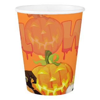 Vaso De Papel Taza de papel sonriente del feliz Halloween de las