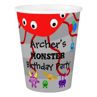 Vaso De Papel Tazas de la fiesta de cumpleaños del monstruo