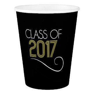 Vaso De Papel Tazas de la fiesta de graduación - 2017