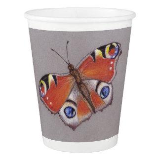 Vaso De Papel Tazas de papel con diseño de la mariposa de pavo