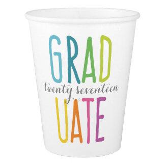 Vaso De Papel Tazas de papel de la graduación colorida linda