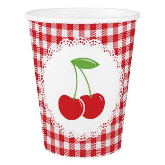 Vaso De Papel Tazas de papel de las cerezas