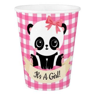 Vaso De Papel Tazas de papel del bebé de la panda de la fiesta