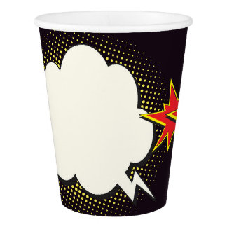 Vaso De Papel Tazas de papel del fiesta del arte pop