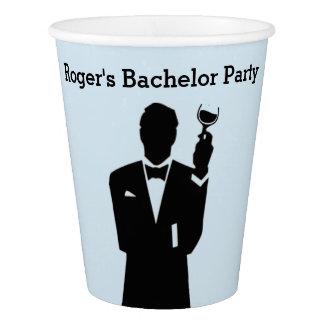 Vaso De Papel Tazas de papel del soltero o del fiesta de