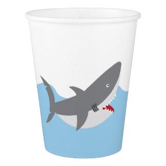 Vaso De Papel Tazas de papel del tiburón