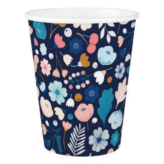 Vaso De Papel Tazas de papel florales de la marina de guerra