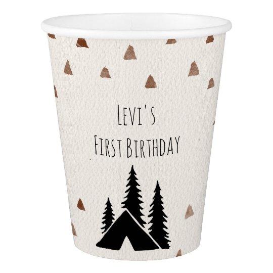 Vaso De Papel Tazas de papel salvajes de un fiesta de la montaña