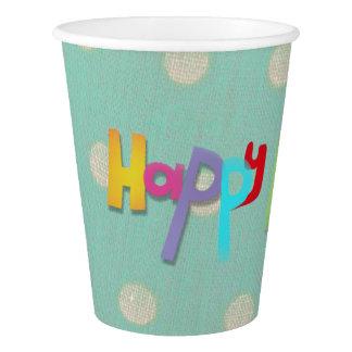Vaso De Papel Tazas del feliz cumpleaños