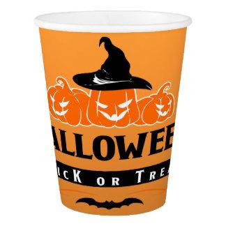 Vaso De Papel Truco del feliz Halloween o taza de papel de la