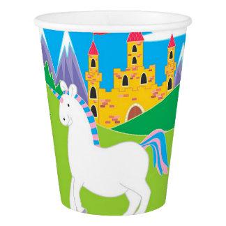 Vaso De Papel Unicornio y tazas de papel de la fiesta de