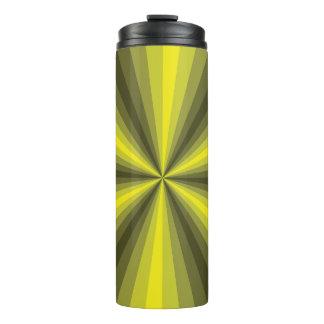 Vaso la termal del amarillo de la ilusión óptica