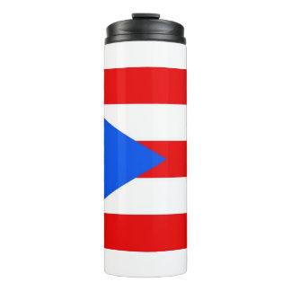 Vaso termal con la bandera de Puerto Rico, los