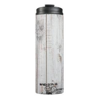 Vaso termal de madera del Grunge
