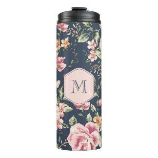 Vaso termal floral del vintage