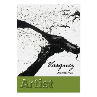 Vasquez - aguacate intrépido del ilustrador del tarjetas de visita grandes