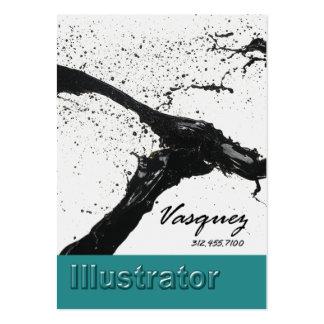 Vasquez - pintor intrépido del artista del tarjetas de visita grandes